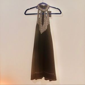 NBD Black Halter Dress NWT Pearl Jam